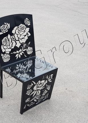 """Стул из металла, цвет - черный, серия """"Black rouse"""" Лофт стиль"""