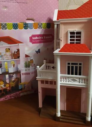 3-х этажный дом +подарок для флоксовых игрушек с гаражом и...
