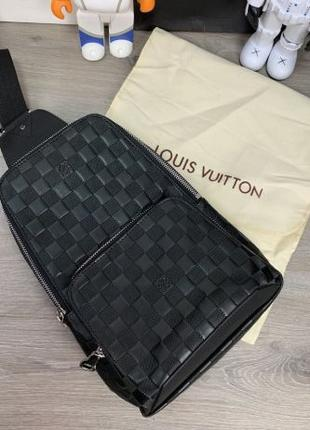 Сумка-слинг Louis Vuitton Damier Graphite Бананка Поясная Сумк...