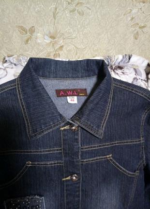 Пиджак джинсовый, курточка коттон