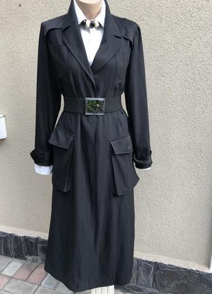 Чёрный плащ,тренч,легкое пальто