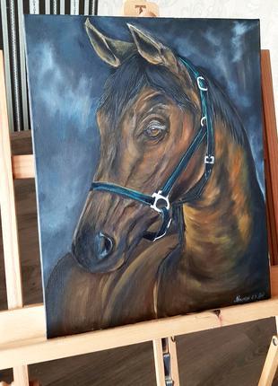 Авторская картина акрилом лошадь