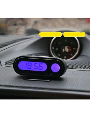 Авто часы с подсветкой/температурой салона