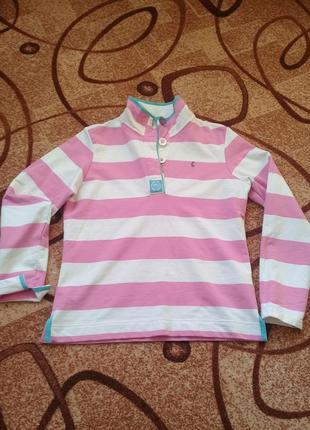 Классная рубашка поло с длинным рукавом joules индия котон боу...