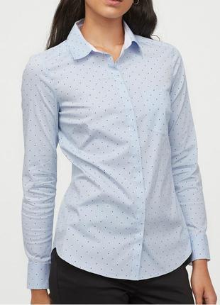 Оригинальная стильная рубашка в сердечки h&m