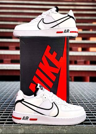 "Nike Air Force 1 React ""White-Black"""