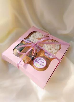 Подарунок для жінок: чай, гарячий шоколад та зефір маршмеллоу
