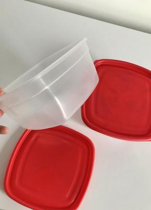 Контейнер, лоток для їжі, судки, 1 л, пищевой контейнер квадра...