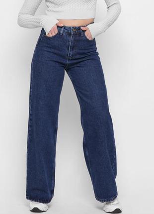 Трендовые широкие джинсы палаццо