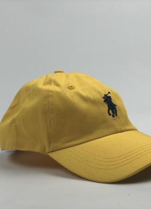 Желтая кепки 🧢 polo ralph lauren кепка с кожаным ремешком