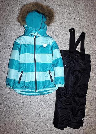 Зимний комплект куртка и лыжные штаны