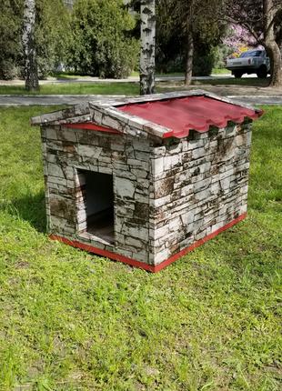 Собачья будка для средних и крупных пород собак