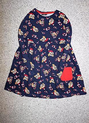 Платье щенячий патруль скай