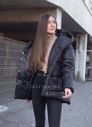 3 цвета! теплая зимняя куртка черная зефирка