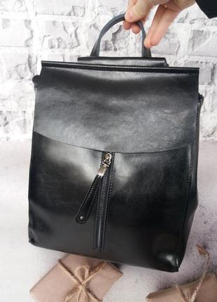 Женский кожаный портфель рюкзак из кожи жіночий шкіряний портфель