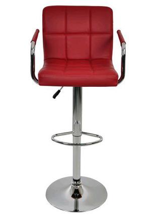 Барний стілець зі спинкою Bonro В-628-1 бордовий