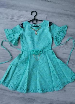 Стильное нарядное платье на рост 134-152см