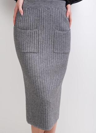 Юбка-карандаш с карманами