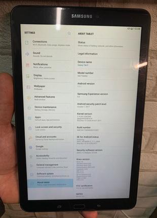 """Планшетный компьютер, планшет Samsung Galaxy Tab E 9,7"""" 16gb T650"""