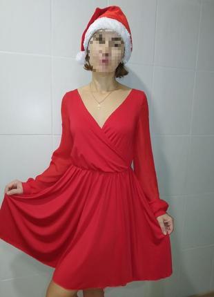 Красное вечернее платье на новый год