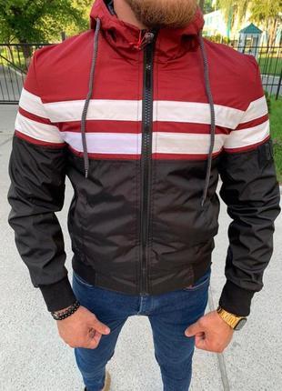 Мужская осенняя водоотталкивающая куртка парка ветровка