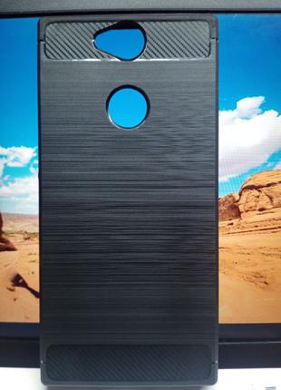 Чехол TPU Carbon Fiber Case для Sony Xperia XA2 Plus H4413 черный