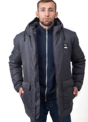 Мужская зимняя куртка парка puma на холодную зиму