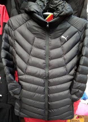 Мужская зимняя куртка пуховик спортивная с капюшоном puma
