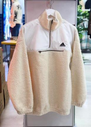 Мужская зимняя толстовка олимпийка на флисе adidas