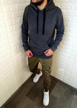 Распродажа зимняя мужская толстовка худи с капюшоном