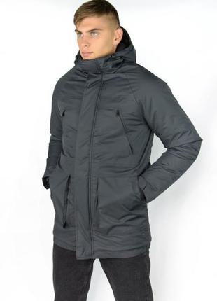 Распродажа зимняя мужская куртка парка с карманами