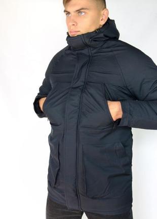 Распродажа зимняя куртка мужская парка с карманами
