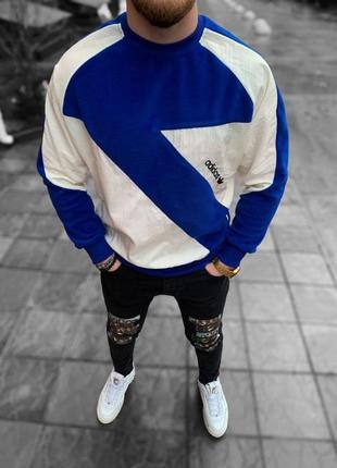 Стильная мужская флисовая толстовка свитшот adidas