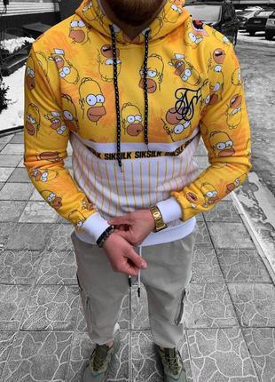 Мужская толстовка худи с капюшоном с принтом симпсоны simpsons