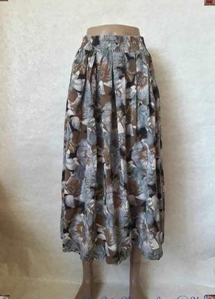 Новая пышная летняя лёгкая красочная юбка миди со 10 % вискозы...