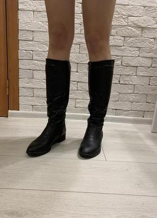 Женские зимние кожаные сапоги 38р