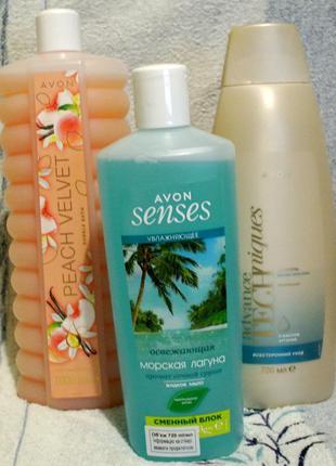 Набор: пена д/ванны 1000 мл, жидкое мыло, шампунь д/волос