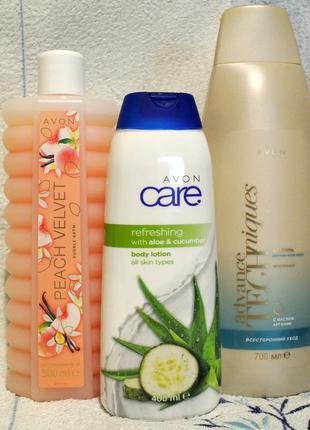 Набор:пена д/ванны,лосьон д/тела,шампунь д/волос с маслом аргании