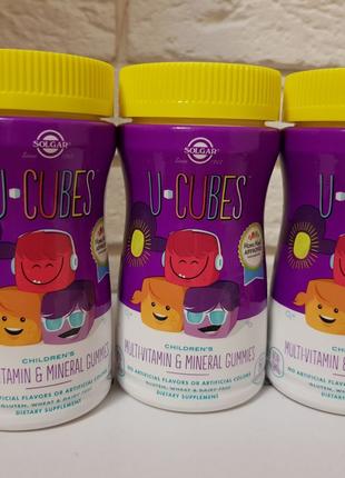 Solgar, U-Cubes,жевательные мультивитамины, Солгар, для детей
