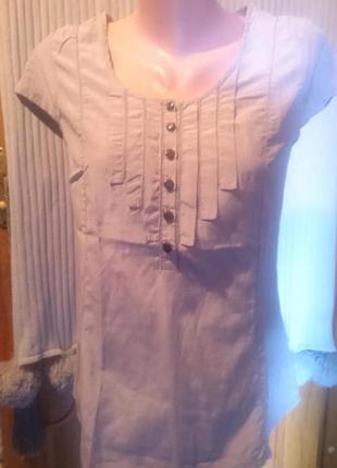 Блуза серая  H&M  55% шелк 45% хлопок