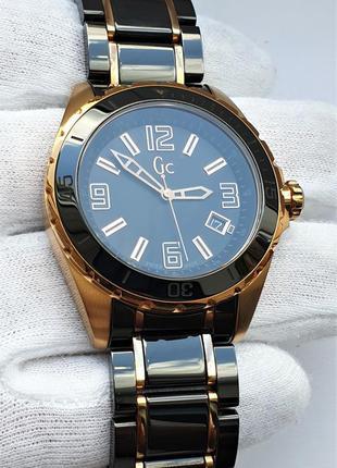Мужские часы gc sport class xl watch x85011g2s sapphire 41mm 100m
