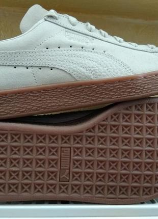 Кроссовки puma suede classic natural warmth lace up trainers b...