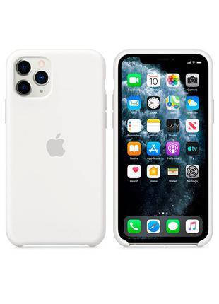 Силиконовый чехол Apple Silicone Case White для iPhone 11 pro