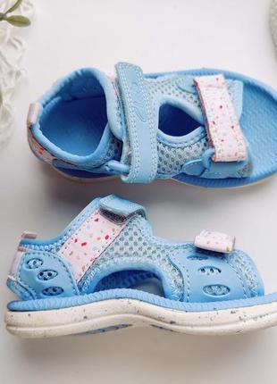 Голубые босоножки  для девочки  артикул: 8913 сандали