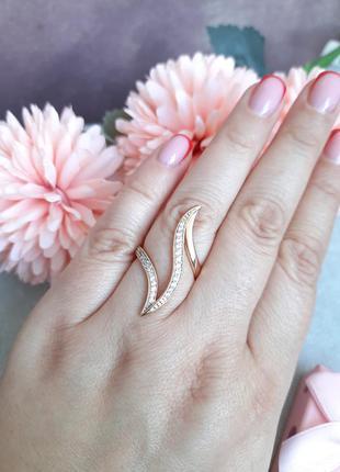 Кольцо дорожка из камушек фианита, медицинское золото xuping