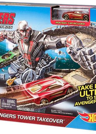 Hot Wheels Marvel Avengers Tower Track Набор Хотвилс Атака Аль...
