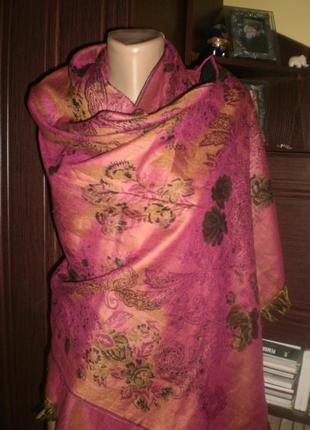 """Шикарнй нереально крутий дизайнерський шарф-палантин """"пашміна""""..."""