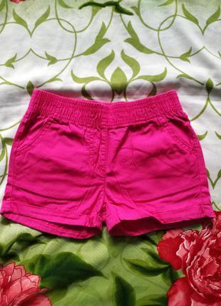 Розовые шорты для девочки 4-5 лет