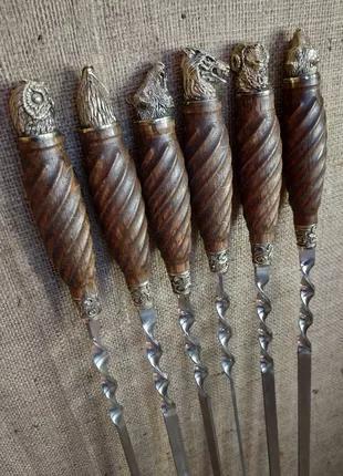 Эксклюзивный набор шампуров в колчане из натуральной кожи