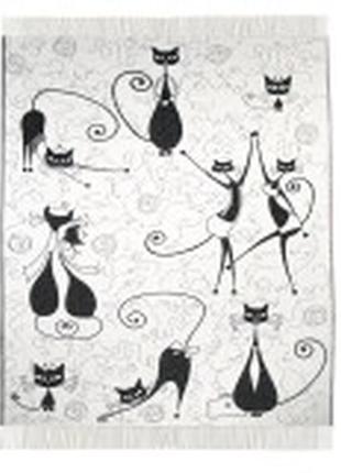 Плед хлопковый ярослав коты размер 170х200 см